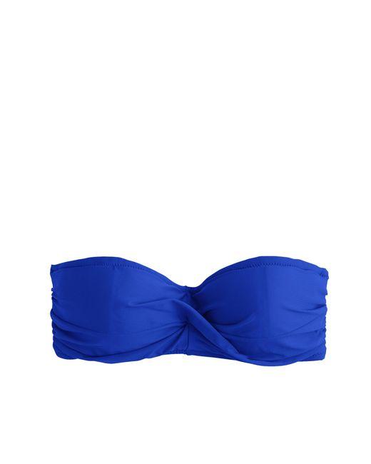 J.Crew   Blue U-front Bandeau Bikini Top   Lyst