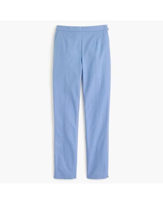 J.Crew | Blue Tall Martie Pant In Bi-stretch Cotton | Lyst