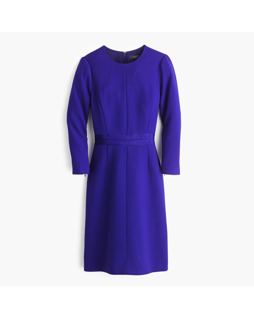 J.Crew | Blue Double-faced Wool Crepe Dress | Lyst