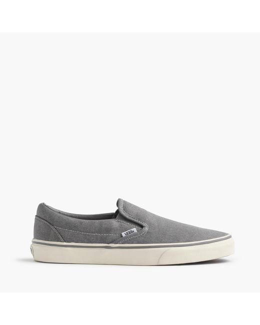 J.Crew | Metallic Vans Washed Canvas Classic Slip-on Sneakers for Men | Lyst