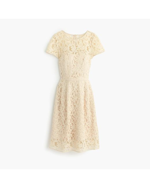 J.Crew | Metallic Alisa Dress In Leavers Lace | Lyst
