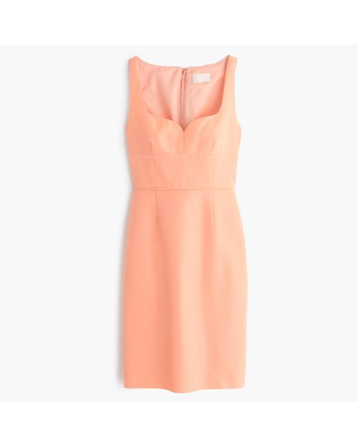 J.Crew | Orange Mae Dress In Classic Faille | Lyst