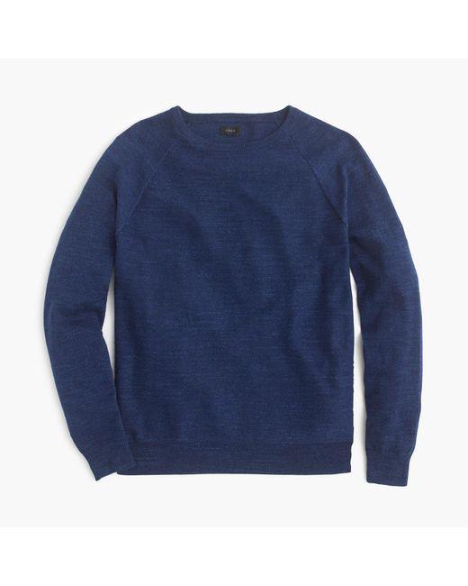 J.Crew | Blue Slim Rugged Cotton Sweater for Men | Lyst