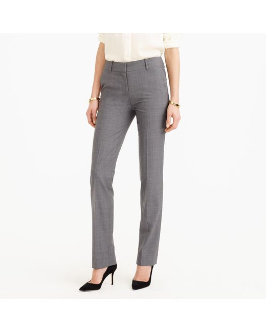 J.Crew | Gray Tall Campbell Trouser In Italian Stretch Wool | Lyst