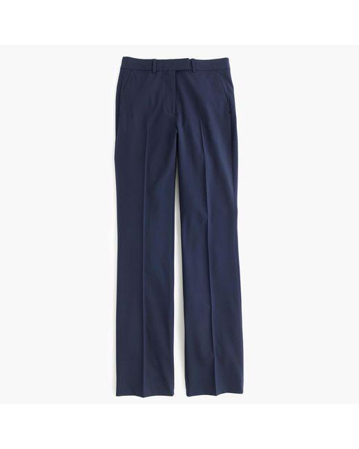 J.Crew | Blue Preston Pant In Italian Stretch Wool | Lyst