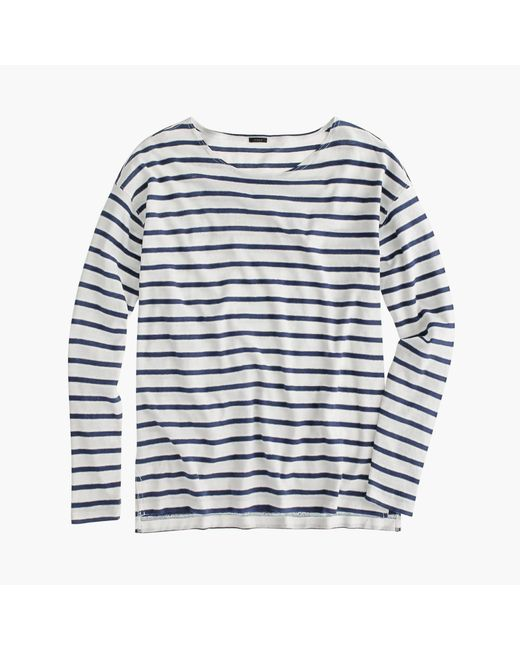J.Crew | White Deck-striped T-shirt | Lyst