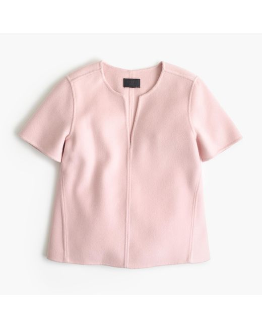 J.Crew | Pink Collection Double-faced Cashmere Top | Lyst