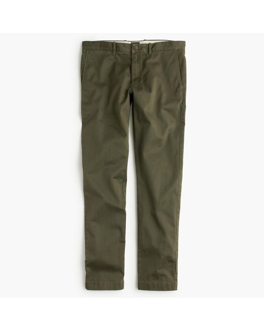 J.Crew | Green Stretch Chino Pant In 484 Slim Fit for Men | Lyst