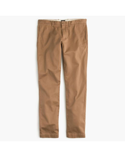 J.Crew | Brown Stretch Chino Pant In 484 Fit for Men | Lyst