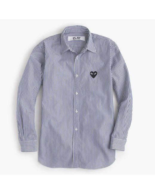 J.Crew | Blue Play Comme Des Garã§ons Stripe Button-down Shirt | Lyst