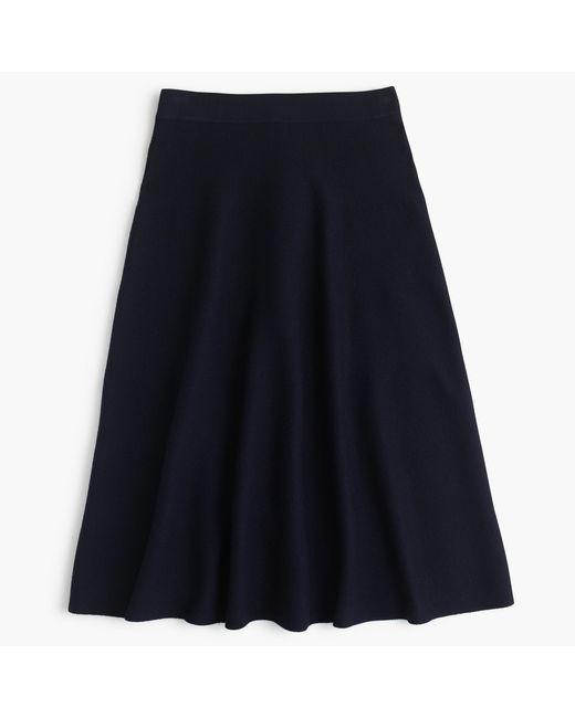 J.Crew | Blue Midi Sweater-skirt | Lyst