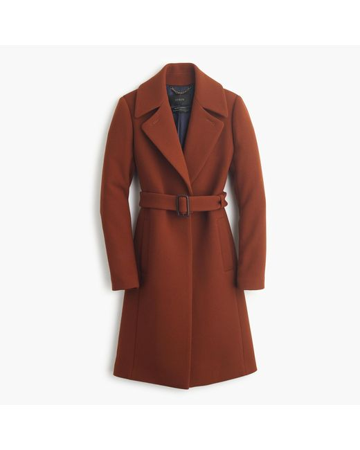 J.Crew | Red Petite Double-cloth Belted Trench Coat | Lyst