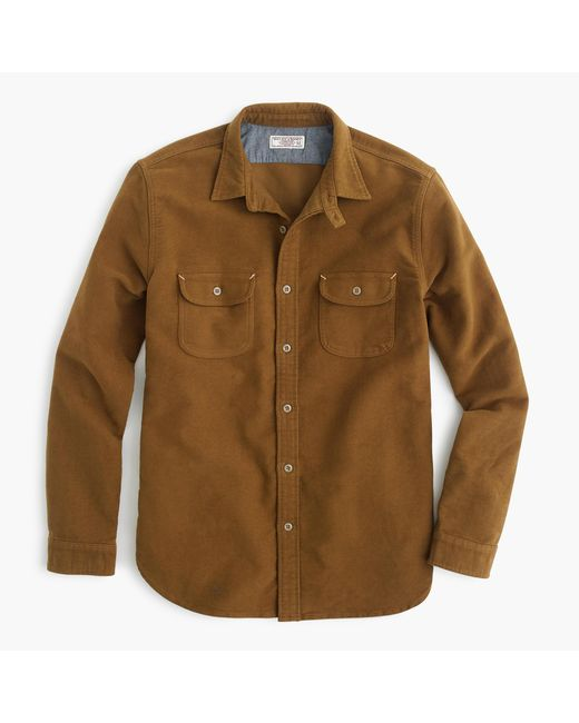 J.Crew | Natural Wallace & Barnes Moleskin Workshirt for Men | Lyst