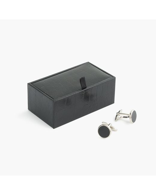 J.Crew | Black Onyx Cuff Links for Men | Lyst