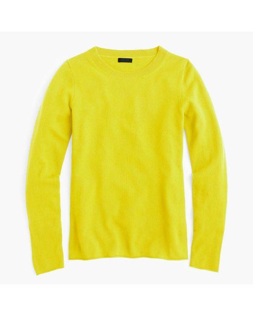 J.Crew | Yellow Italian Cashmere Long-sleeve T-shirt for Men | Lyst