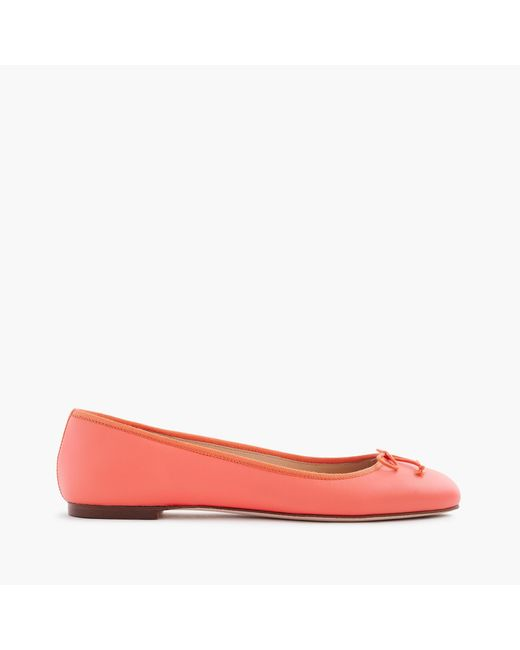 J.Crew   Multicolor Camille Ballet Flats In Leather   Lyst