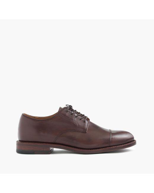 J.Crew | Brown Ludlow Cap-toe Bluchers for Men | Lyst