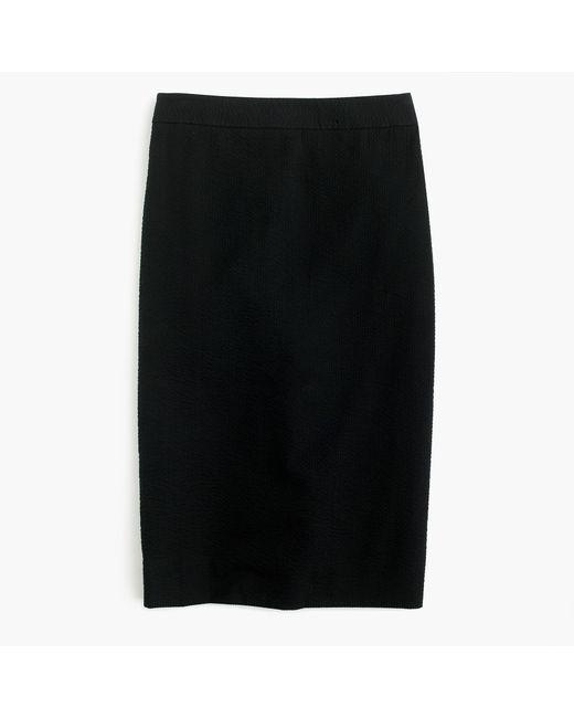 J.Crew | Black Tall Pencil Skirt In Seersucker | Lyst