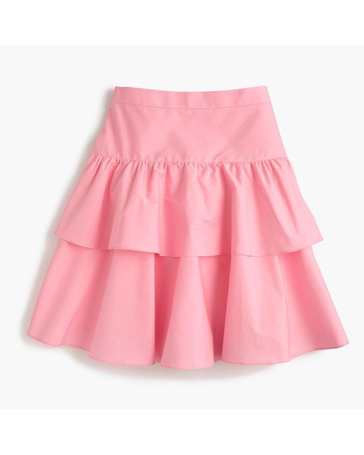 J.Crew | Pink Tiered Ruffle Skirt | Lyst