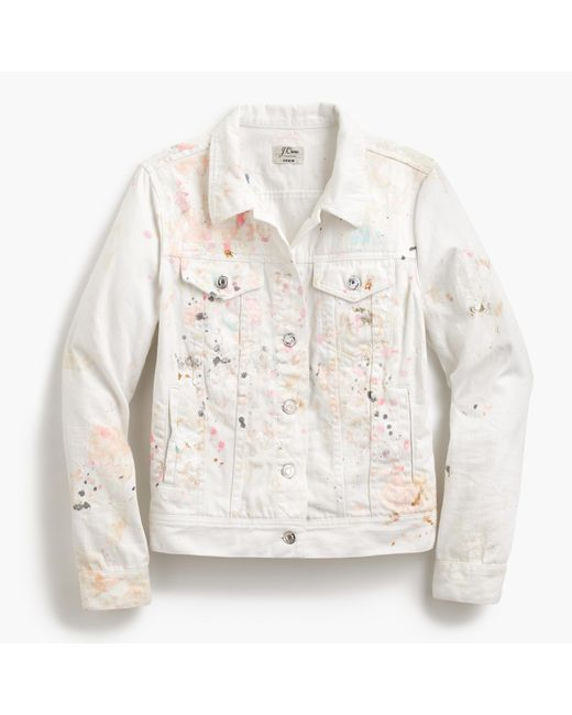 J.Crew | White Limited-edition Denim Jacket In Paint Splatter | Lyst