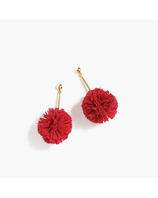 J.Crew | Gathered Carnation Earrings | Lyst