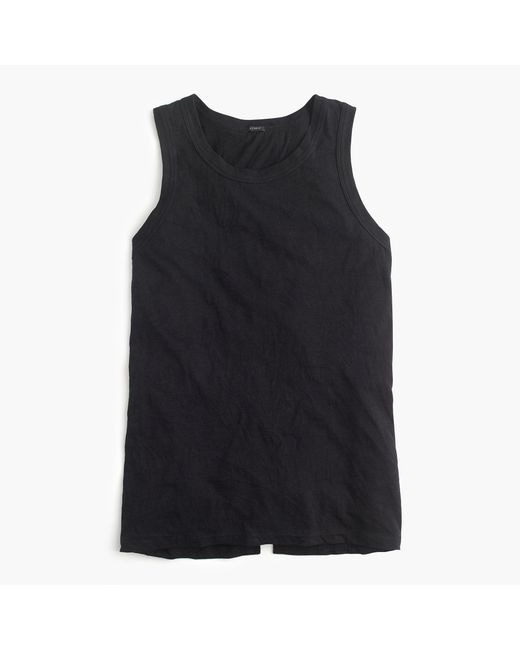 J.Crew | Black Knot-back Tank Top | Lyst