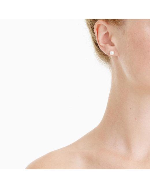 J.Crew - White Pearl Stud Earrings - Lyst