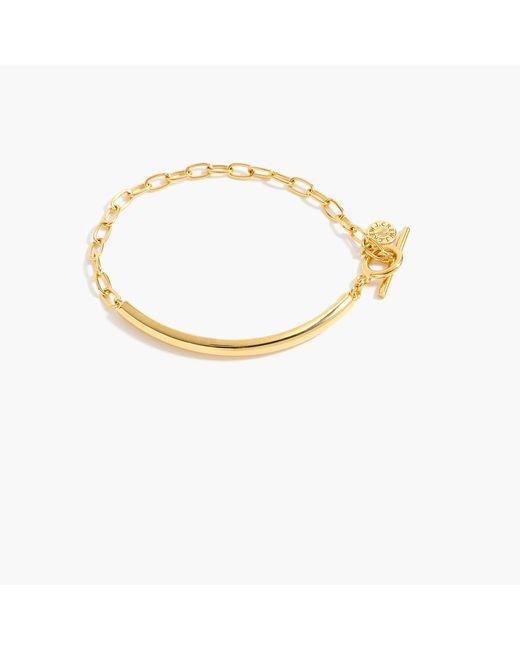 J.Crew | Metallic Demi-fine 14k Gold-plated Id Bracelet | Lyst