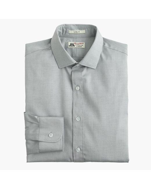 J.Crew | Gray Thomas Mason Ludlow Shirt In Solid for Men | Lyst