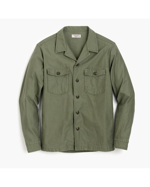 J.Crew | Green Wallace & Barnes Military Shirt-jacket for Men | Lyst