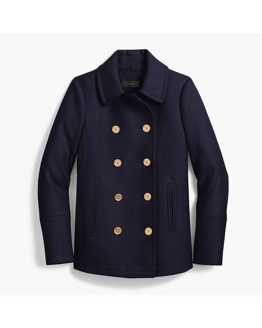 J.Crew | Blue The Tall 2008 Andover Peacoat In Italian Wool | Lyst