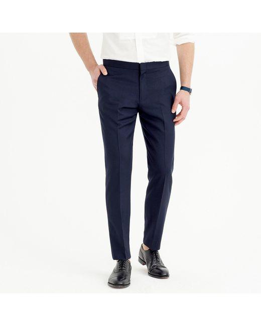 J.Crew Blue Ludlow Slim-fit Tuxedo Pant In Italian Wool for men