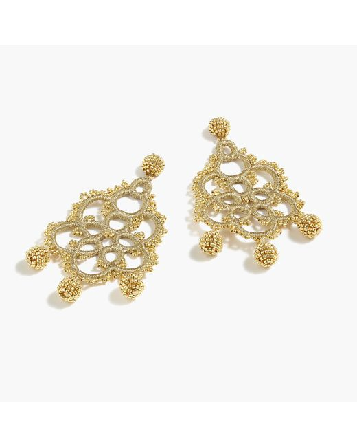 J.Crew - Metallic Bead-and-embroidery Earrings - Lyst