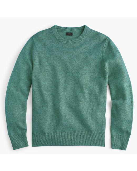 J.Crew   White Slim Lambswool Crewneck Sweater for Men   Lyst