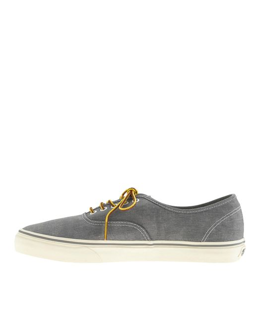 4ac8030c926db4 ... Vans - Metallic Washed Canvas Authentic Sneakers for Men - Lyst ...