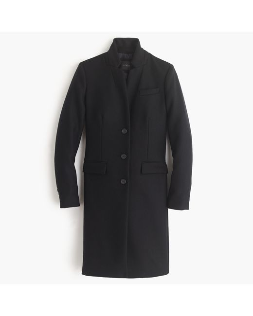 J.Crew | Black Regent Topcoat In Double-serge Wool for Men | Lyst