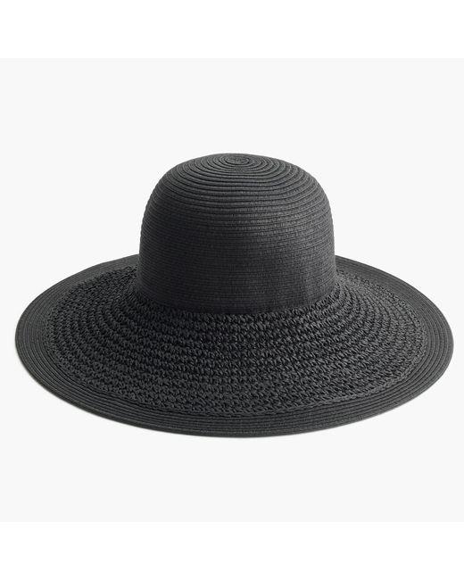 J.Crew | Black Textured Summer Straw Hat | Lyst