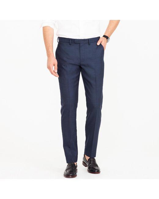 J.Crew - Blue Bowery Slim Pant In Four-season Wool - Lyst