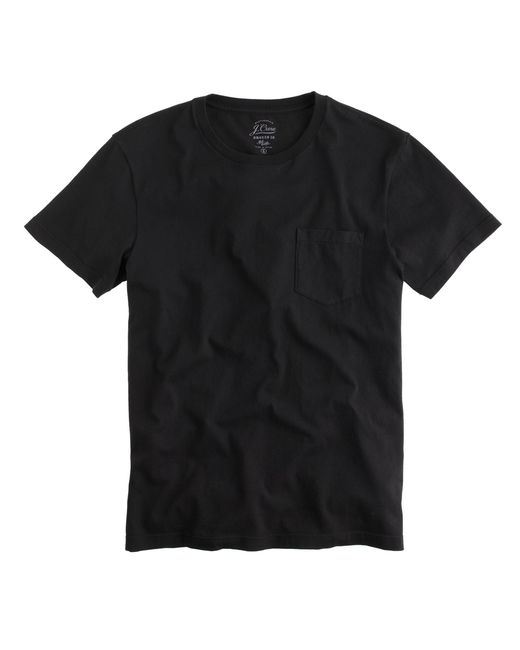 J.Crew | Black Broken-in Pocket T-shirt for Men | Lyst