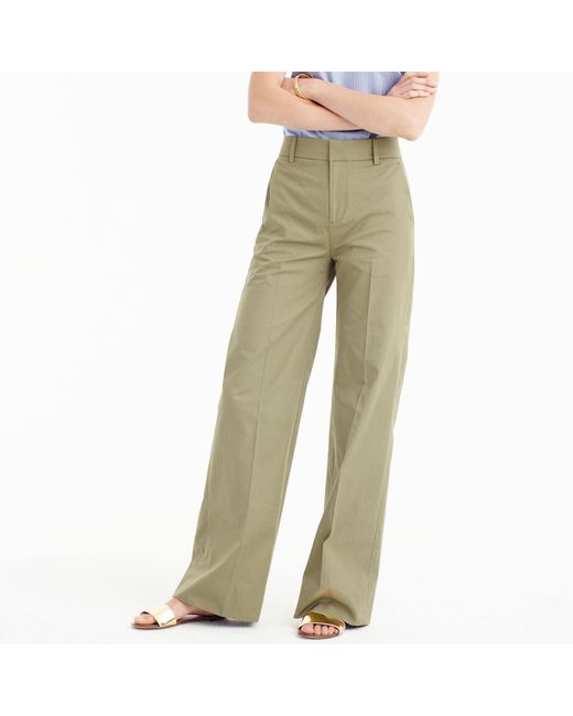 J.Crew | Green Collection Full-length Pant In Italian Cotton | Lyst