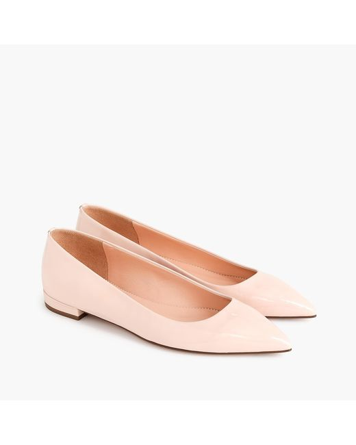 J.Crew - Pink Pointed-toe Flats - Lyst