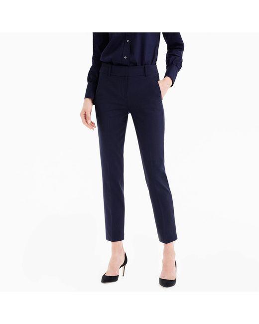 J.Crew - Blue Cameron Slim Crop Pant In Italian Stretch Wool - Lyst