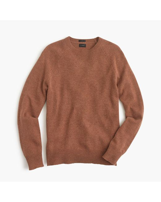 J.Crew | Brown Slim Lambswool Sweater for Men | Lyst
