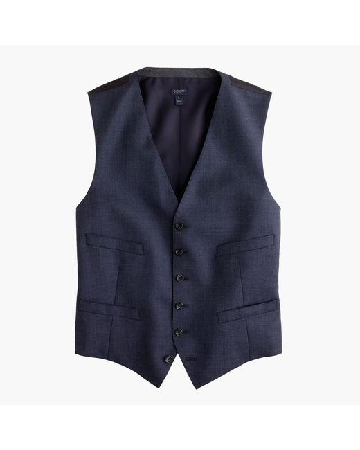 J.Crew | Blue Ludlow Suit Vest In Italian Worsted Wool for Men | Lyst