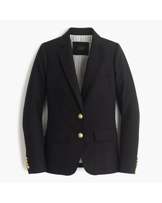 J.Crew | Black Petite Rhodes Blazer In Italian Wool | Lyst