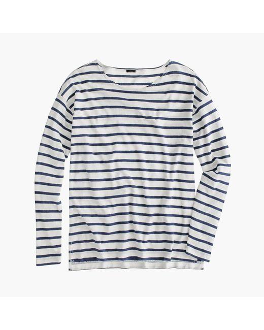 J.Crew | White Deck-striped T-shirt | Lyst