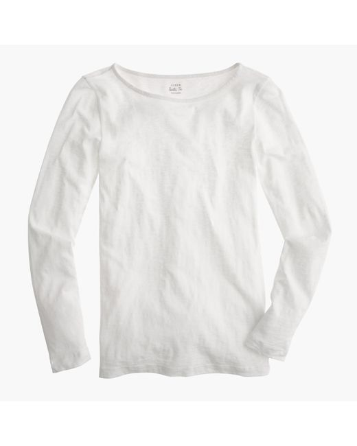 J.Crew | White Petite Long-sleeve Painter T-shirt | Lyst