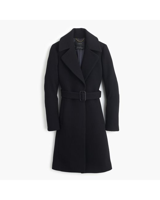 J.Crew | Black Double-cloth Belted Trench Coat | Lyst