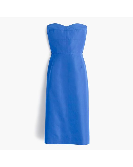J.Crew | Blue Rory Strapless Dress In Classic Faille | Lyst