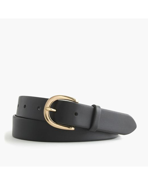 J.Crew - Black Classic Leather Belt - Lyst